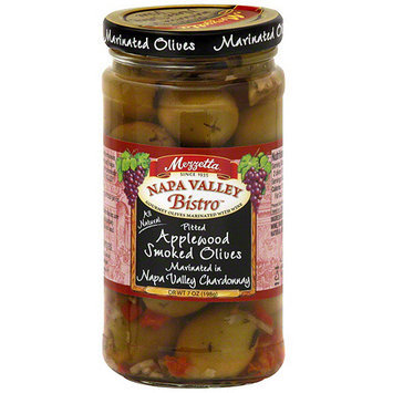 Napa Valley Bistro Applewood Smoked Pitted Marinated Olives, 7.5 oz (Pack of 6)