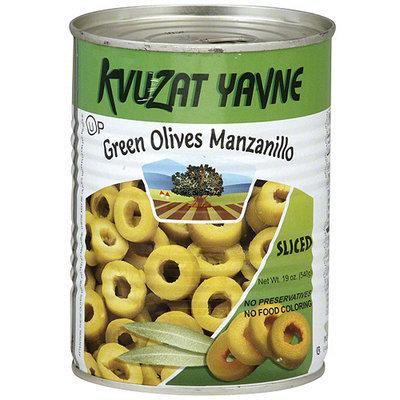 Bellview Kvuzat Yavne Green Manzanillo Sliced Olives, 19 oz (Pack of 12)