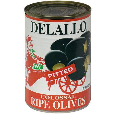 Delallo Ripe Colossal Olives, 5.75 oz (Pack of 24)