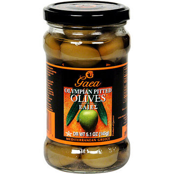 Gaea Pitted Olympian Green Olives, 10.2 oz (Pack of 8)
