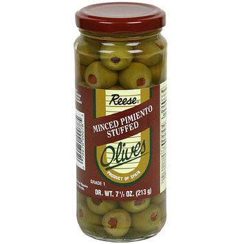 Reese Manzanilla Olives Stuffed With Minced Pimiento, 7.5 oz (Pack of 12)