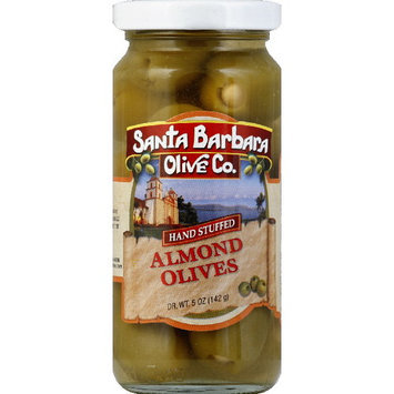Santa Barbara Olive Co. Stuffed Olives With Almonds, 5 oz (Pack of 6)