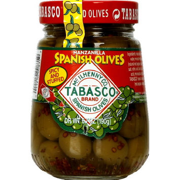 TABASCO Hot & Spicy Stuffed Spanish Olives, 7.05 oz (Pack of 6)