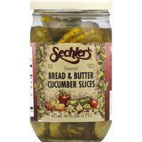 Sechlers Sechler's Sweet Bread & Butter Cucumber Slices, 16 oz (Pack of 6)