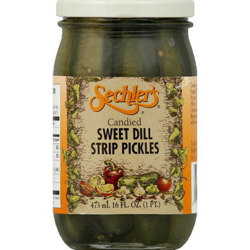 Sechlers Sechler's Candied Sweet Dill Strip Pickles, 16 oz (Pack of 6)