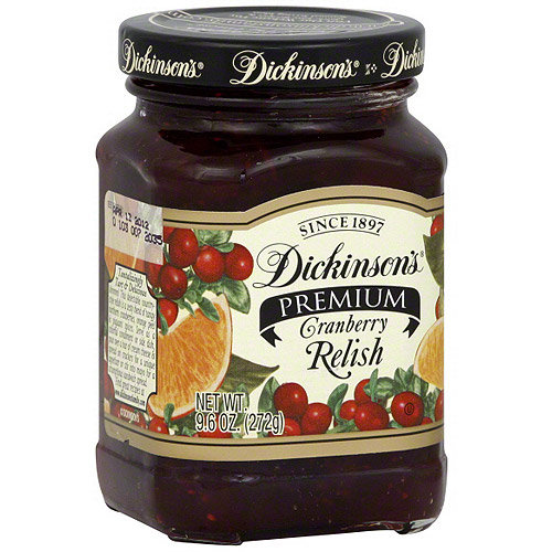 Dickinsons Dickinson's Premium Cranberry Relish, 9.6 oz (Pack of 6)