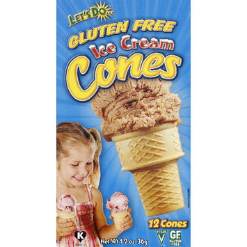 Lets Do Edward & Sons Let's Do & Gluten Free Ice Cream Cones, 12ct (Pack of 12)