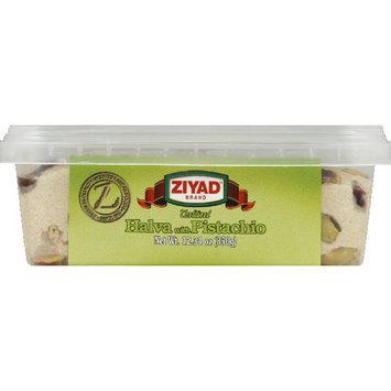 Ziyad Mediterranean Sesame Fudge Traditional Halva With Pistachio, 12.34 oz (Pack of 6)