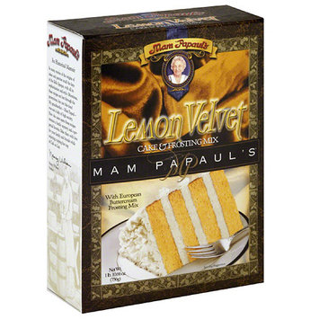 Mam Papaul's Lemon Velvet Cake & Frosting Mix, 26.66 oz (Pack of 6)
