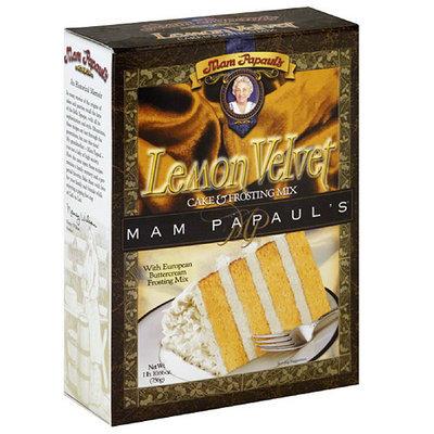 Mam Papaul's Lemon Velvet Cake & Frosting Mix, 26.66 oz (Pack of 6)