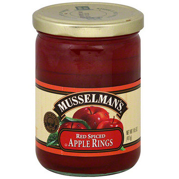 Musselman's Red Spiced Apple Rings, 14.5 oz (Pack of 12)
