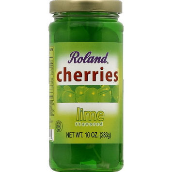 Roland Lime Cherries, 10 oz (Pack of 6)