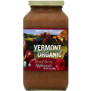 Sans Sucre Vermont Village Cannery Organic Mixed Berry Applesauce, 24 oz (Pack of 6)