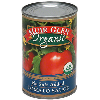 Muir Glen No Salt Added Tomato Sauce, 15 oz (Pack of 12)