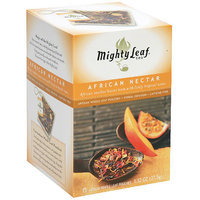 Mighty Leaf Whole Leaf Organic African Nectar Tea Pouches, 15 count, (Pack of 6)