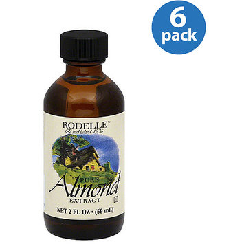 Rodelle Pure Almond Extract, 2 fl oz, (Pack of 6)