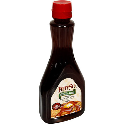 Fifty-50 Fifty 50 Maple Syrup, 12 fl oz, (Pack of 12)