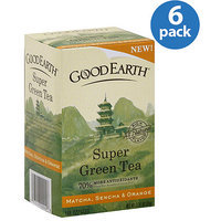 Good Earth Matcha, Sencha & Orange Super Green Tea, 1.37 oz, (Pack of 6)