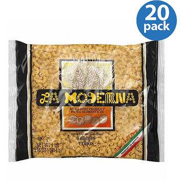 La Moderna Elbows Pasta Macaroni Product, 16 oz, (Pack of 20)