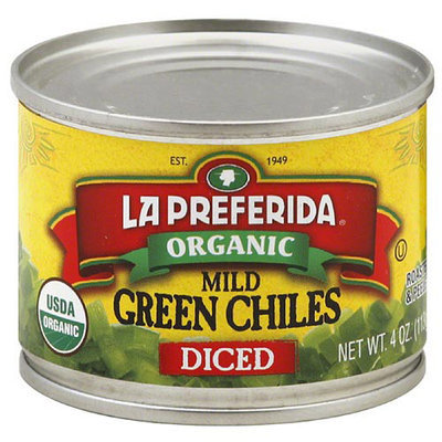 La Preferida Organic Mild Diced Green Chiles, 4 oz, (Pack of 12)