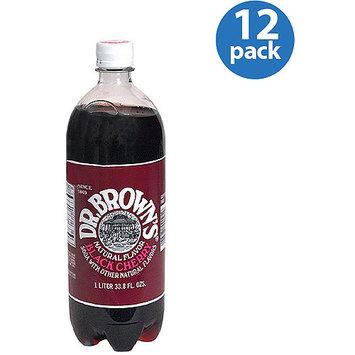 Dr. Brown's Black Cherry Soda, 33.8 fl oz, (Pack of 12)