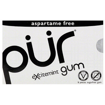 Pur Excitement Sugarfree Gum, 9 count, (Pack of 12)