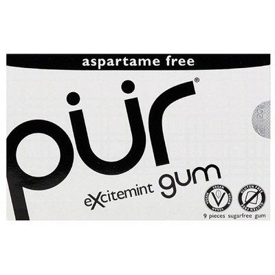 Pur Excitement Sugarfree Gum, 9 count, (Pack of 12)