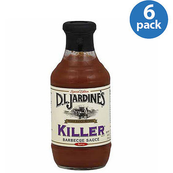 Jardines D.L. Jardine's Killer Spicy Barbecue Sauce, 18 oz, (Pack of 6)