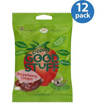 Goody Good Stuff Strawberry Cream Fruit Gummies, 3.5 oz, (Pack of 12)
