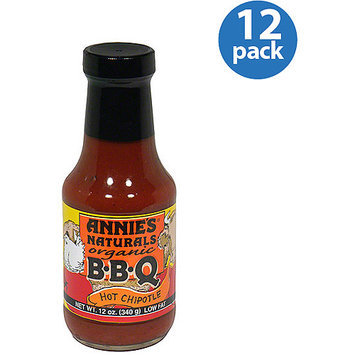 Annie's Naturals Organic Hot Chipotle BBQ Sauce, 12 fl oz, (Pack of 12)