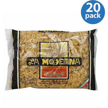 La Moderna Shells Pasta Macaroni Product, 16 oz, (Pack of 20)
