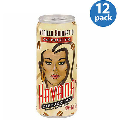 Havana Vanilla Amaretto Cappuccino, 11 fl oz, (Pack of 12)