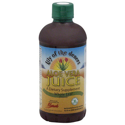 Lily of the Desert Aloe Vera Juice Whole Leaf Filtered Dietary Supplement, 32 fl oz