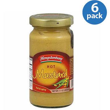 Hengstenberg Hot Mustard, 7.1 oz, (Pack of 6)