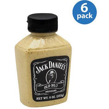 Jack Daniel's Old No. 7 Mustard, 9 oz, (Pack of 6)