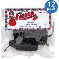 Bolner's Fiesta Brand Ancho Chili Pods, 1.5 oz, (Pack of 12)