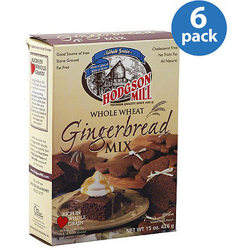 Hodgson Mill Whole Wheat Gingerbread Mix, 15 oz, (Pack of 6)