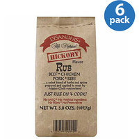 Lysander's Hickory Flavor Meat Rub, 3.8 oz, (Pack of 6)