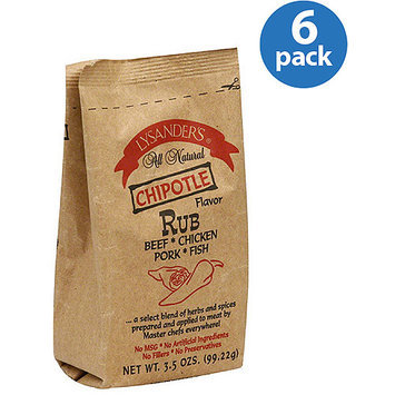 Lysander's Chipotle Meat Rub, 3.5 oz, (Pack of 6)