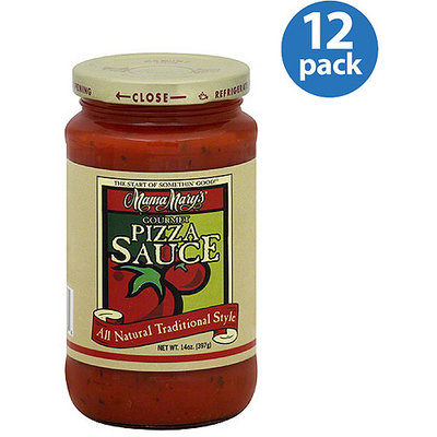 Mama Mary's Gourmet Pizza Sauce, 14 oz, (Pack of 12)
