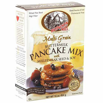 Hodgson Mill Multi Grain Buttermilk Pancake Mix with Milled Flaxseed & Soy, 16 oz, (Pack of 8)