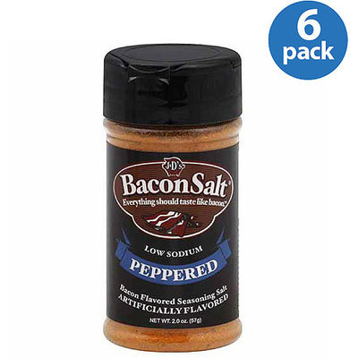 J & D's Peppered Bacon Salt, 2 oz (Pack of 6)
