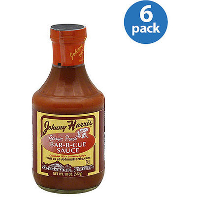 Johnny Harris Georgia Peach Bar-B-Cue Sauce, 18 oz (Pack of 6)
