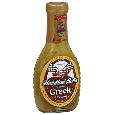 Hot Rod Bob's Gourmet Greek Dressing, 8 fl oz, (Pack of 6)