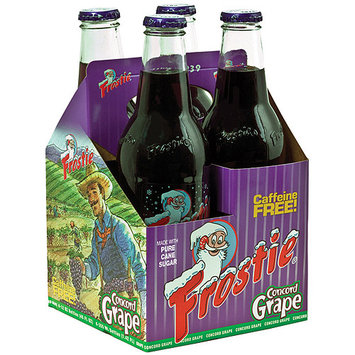Frostie Concord Grape Soda, 4 count, 12 fl oz, (Pack of 6)
