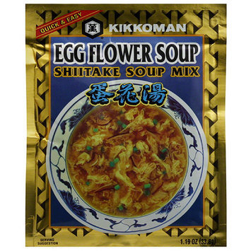 Kikkoman Egg Flower Shiitake Soup Mix, 1.19 oz, (Pack of 12)