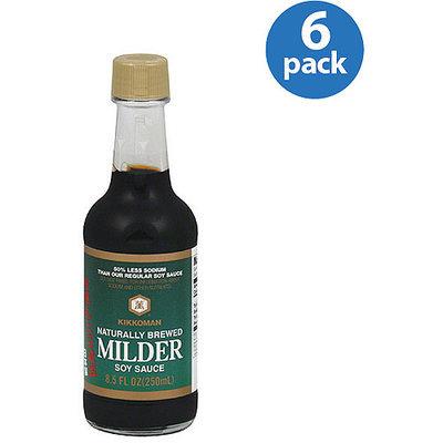 Kikkoman Naturally Brewed Milder Soy Sauce, 8.5 oz (Pack of 6)