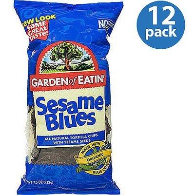 Garden of Eatin' Sesame Blues Tortilla Chips, 7.5 oz (Pack of 12)