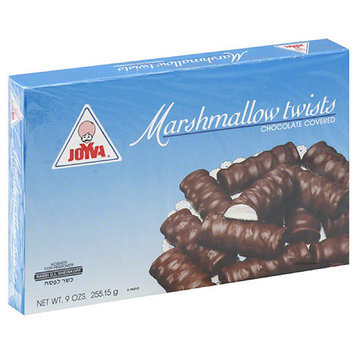 Joyva Chocolate Covered Marshmallow Twists, 9 oz (Pack of 24)
