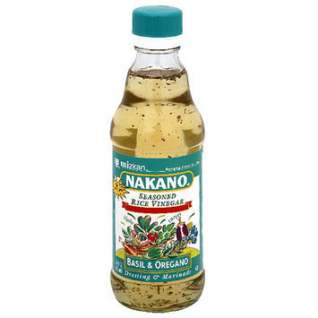 Nakano Basil & Oregano Seasoned Rice Vinegar, 12 fl oz, (Pack of 6)